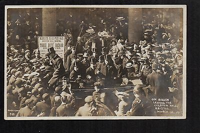 Bristol - General Buller Leaving The Colston Hall  - real photographic postcard
