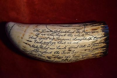 """faux scrimshaw   """"The Goddess of the Seas""""  looks like,  authentic 17th century."""
