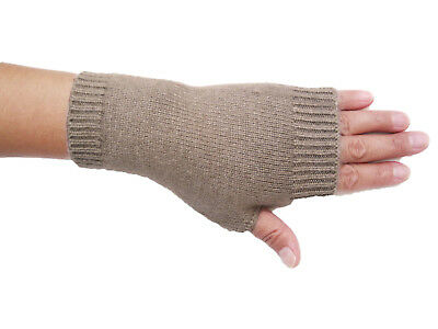 Pure Cashmere Wool Woman Women Men Unisex Fingerless Gloves Mittens -many colors