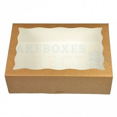 9.5 x 6.6 x 3 INCH WINDOW CAKE BOXES CHOOSE YOUR QUANTITY AND COLOUR