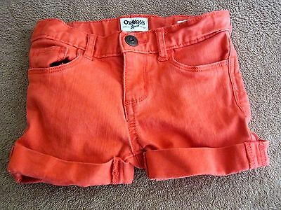 Baby Girls Toddler OshKosh Orange Stretch Shorts Size 3T