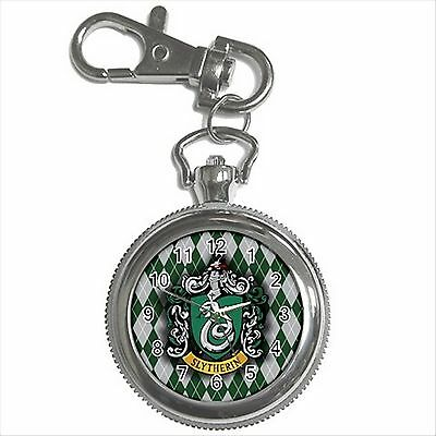 NEW HARRY POTTER SLYTHERIN HOGWARTS SCHOOL Key Chain Ring Watch Gift D05