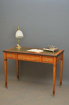 A Stunning Edwardian Writing Table in Satinwood