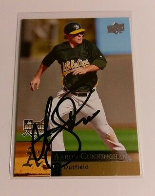 2009  Upper Deck Aaron Cunningham Auto Autograph Signed Rookie Card RC #412