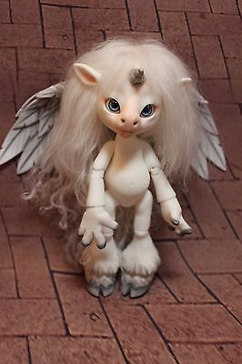 "OOAK 8"" ""Magic the Unicorn"" Resin BJD Lil friend to Kaye Wiggs, Lowe, Lasher Etc"