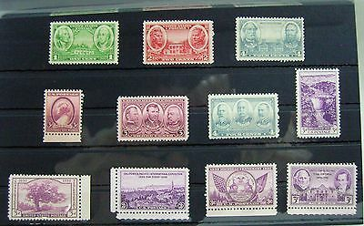 Collection of Unmounted Mint stamps from USA circa 1935