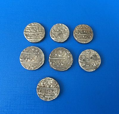 Islamic Dynasties Lot Of 7 Coins Silver