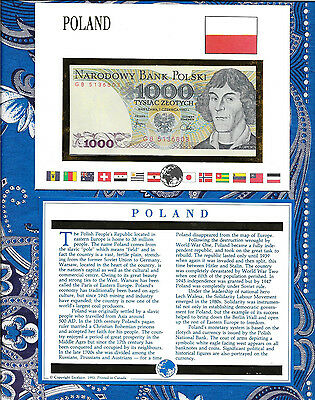 E Banknotes of All Nations Poland 1982 1000 Zlotych P146c AUNC GB5136803