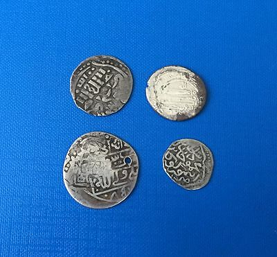 Islamic Dynasties Mix Lot Of 4 Coins Silver
