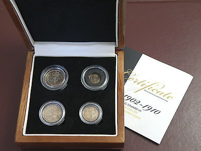 1905 King Edward VII SILVER MAUNDY COIN SET  Penny Twopence Threepence Fourpence