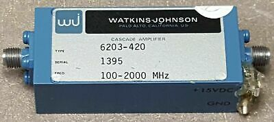 Watkins Johnson Cascade Amplifier type 6203-420 Freq 100 to 2000MHz