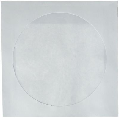 CD DVD White Paper Sleeves with Clear Window 1000 Pack