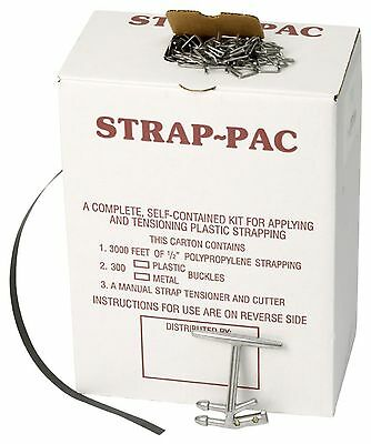 "PAC Strapping SP-W Plastic Strapping Kit 3000' Length x 1/2"" Wide 300 Wire Bu..."