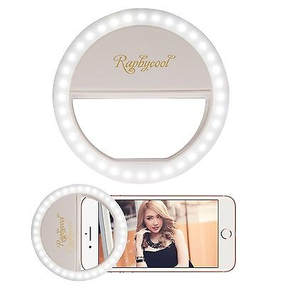 Selfie Ring Light for iPhone Raphycool 36 LED Circle Lights Fill-in Lighting ...