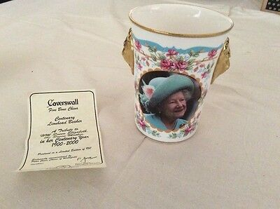 Caverswall Queen Elizabeth The Queen Mother Centenary Lion Head Beaker Ltd Edn
