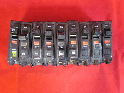NEW - Lot of 9 - Square D Circuit Breakers 20A 120/240V