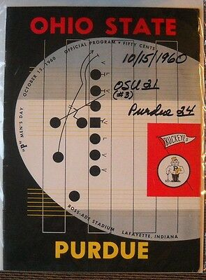 PPD! Ex Beauty! '60 Ohio State at Purdue Big 10 Football Prog-Pur 24, Bucks 21