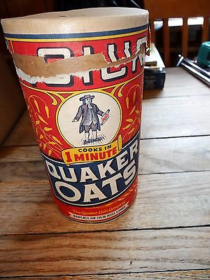 1990s reproduction of 1922 Quick Quaker Oats canister
