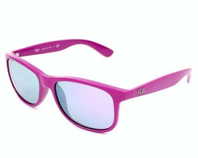 5d50c7102bf57 RAY BAN AUTHENTIC ANDY SUNGLASSES RB4202 6071 4V MATTE VIOLET MIRROR 55mm