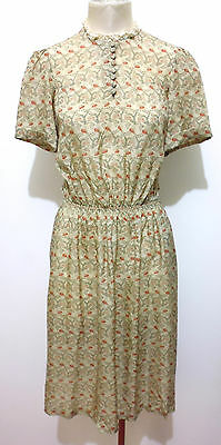 BLUMARINE VINTAGE '80 Abito Vestito Donna Jersey Flower Woman Dress Sz.S - 42