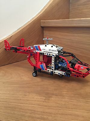 Lego Technic Set 8068 Rescue Helicopter Red Parts Only Incomplete Great Set