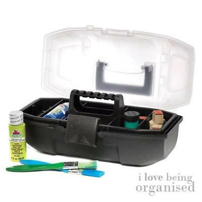 Small Art Supplies Lift Out Tray Toolbox | Craft Caddy Multi Compartments | Crea