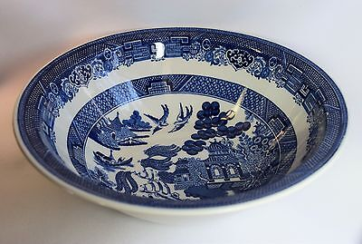 Blue Willow Johnson Brothers Made in England Deep Vegetable Serving Bowl 8 1/4 ""