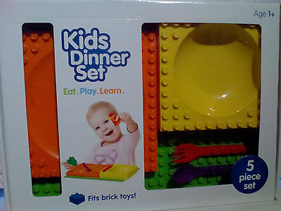 New placematix kids dinner 5 piece set
