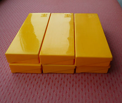 6 Yellow Kodak Photographic Slide Storage Boxes for 35mm slides