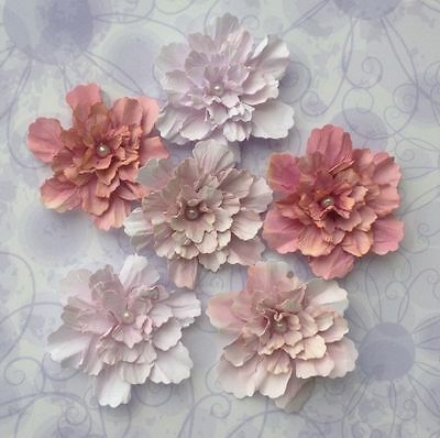 Gorgeous Shabby Blooms and Shabby Posies Handmade Paper Flower Embellishments