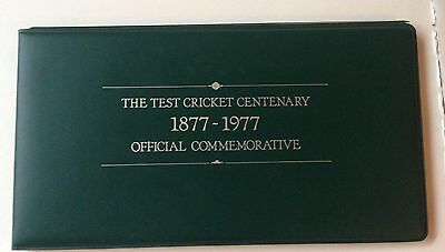 1877 - 1977 The Test Cricket Centenary Official Commemorative Silver Coin