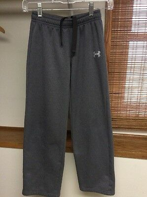 Under Armour Storm Boys Youth Size Medium Gray Fleece Lined Athletic Pants
