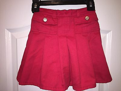 Girls 6 Young Hearts Red Skort Shorts Skirt Elastic Waist