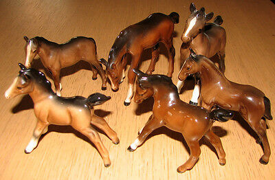 Vintage Beswick Foals/horses All In Pristine Condition Private Collection