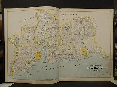 Conneticut, New Haven County Map,  Dbl Side 2-Dbl Pg 1893 R4#92