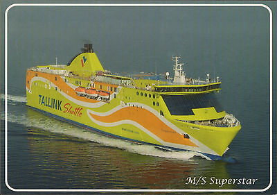 Ship Postcard - Tallink Shipping Company M/s Superstar With The Ship Stamp