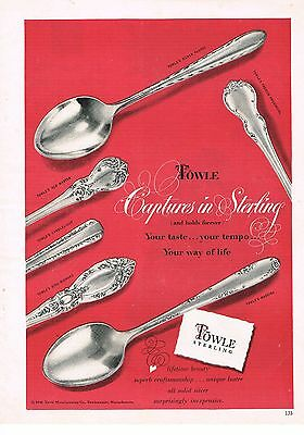 1949 OLD MAGAZINE PRINT AD, Towle Sterling