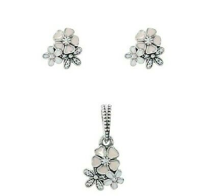 f3c80c331 925 Silver pink poetic Blooms daisy floral Earrings/pendant or set + gift  box