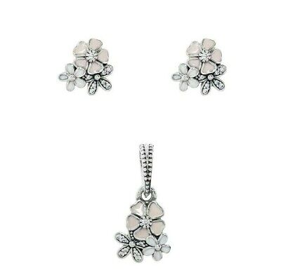 Solid 925 Silver poetic Blooms daisy floral Earrings/pendant or set + gift box