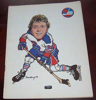 Winnipeg Jets WHA game program April 8 1979 cover