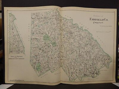 Conneticut, Fairfield County Map  Dbl Side 2Dbl Pg 1893 R4#97