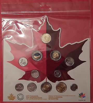 2017 Canada 12 Coins Proof Like Set Plus New Board