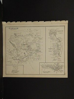 New Hampshire, Grafton County Map, Plymouth, Lyme Dbl. Pg. Reversible 1892 L4#03