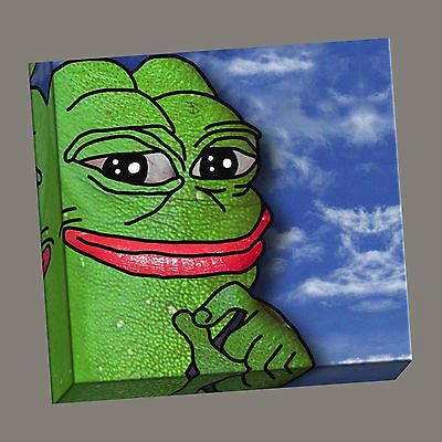 Pepe The Frog  Meme Canvas Gallery Wrap, Make America Great Again