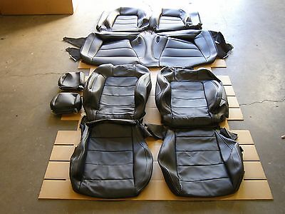 OEM Take-off 2015 2016 2017 Ford Mustang Coupe Seat Covers Black Leather NOS GT