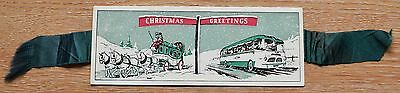 Maidstone & District Bus Company - Christmas Card/Bookmark