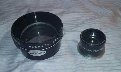 "vintage Yashica Telephoto Lens Set for 2-1/4"" twin lens MINT"