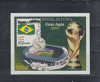 El Salvador 2002 World Cup Soccer MS Sc 1565  Mint Never Hinged