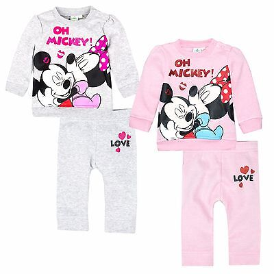 Disney Minnie Mouse Baby Babies Girls Outfit Set Jumper Top Trousers 3-24 Months