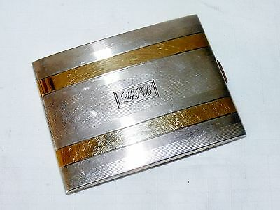 Antique R Blackinton & Co 14k Gold Sterling Silver Cigarette Card Case Art Deco